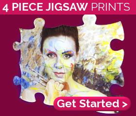 4 piece jigsaw prints from £37.80