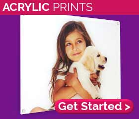 Personalised acrylic prints from £28.68