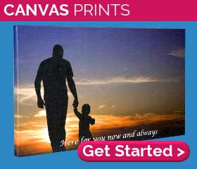 Peronalised canvas prints from £7.54